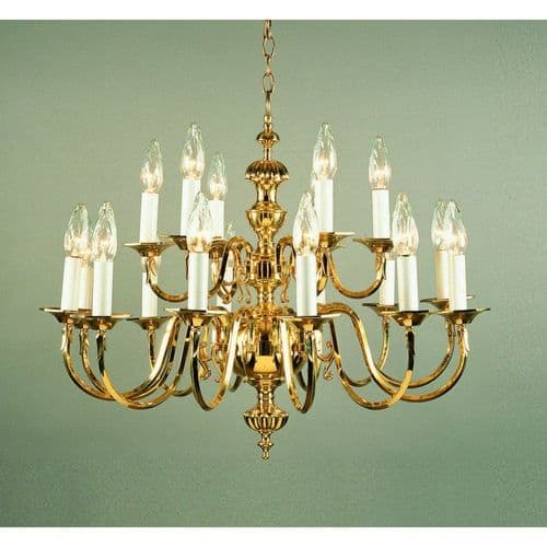 Impex Lighting BF19119/18 Ghent Pendant Polished Brass